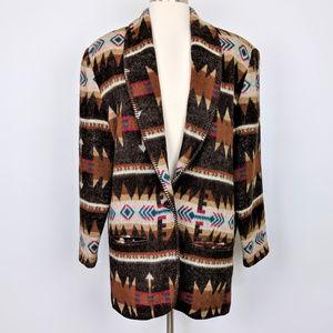 Vintage 90s Oversized Navajo Southwest Blazer